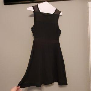 Black Mesh Detail Express dress